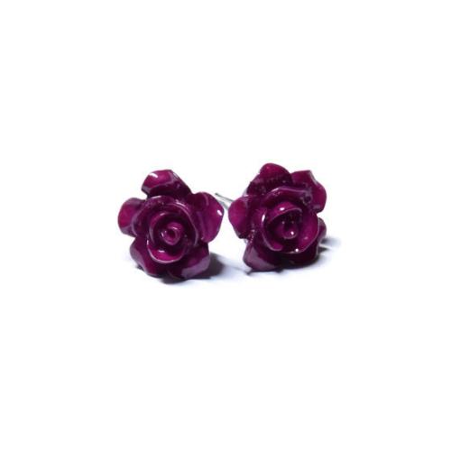 Kolczyki wkrętki róże