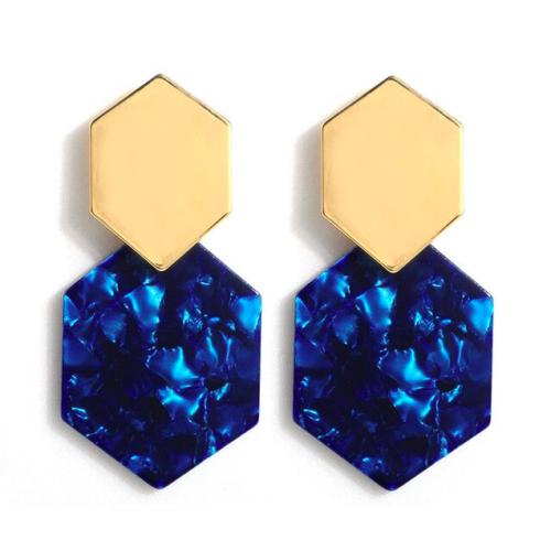 kolczyki geometryczne niebieskie