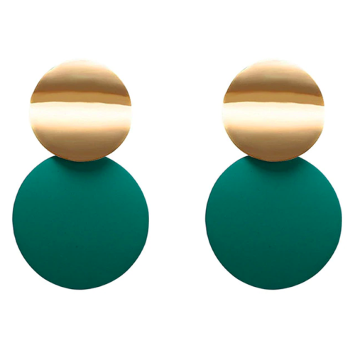 Kolczyki monety zielone