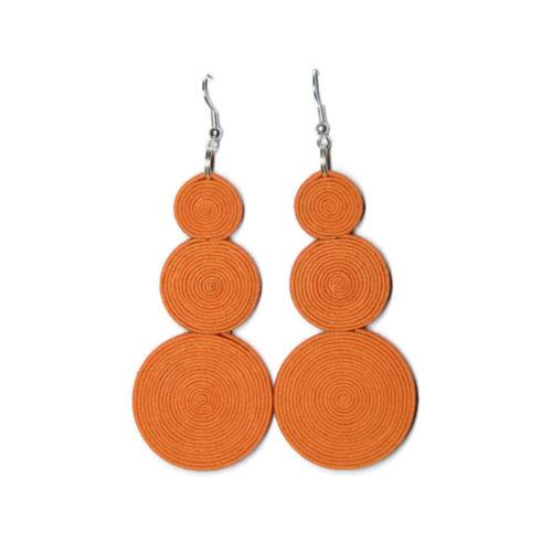 pomarańczowe kolczyki ala sutasz